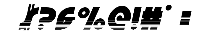 Neuralnomicon Halftone Italic Font OTHER CHARS