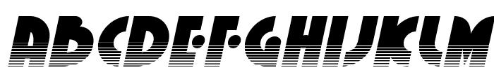 Neuralnomicon Halftone Italic Font UPPERCASE