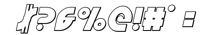 Neuralnomicon Outline Italic Font OTHER CHARS
