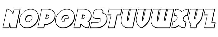 Neuralnomicon Outline Italic Font UPPERCASE