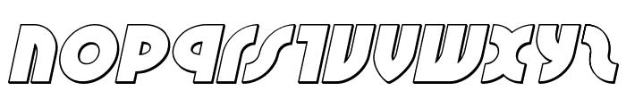 Neuralnomicon Outline Italic Font LOWERCASE