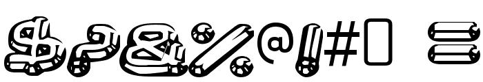 Neurochrome-Regular Font OTHER CHARS
