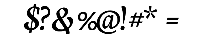 Neuton Cursive Font OTHER CHARS