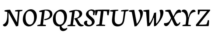 Neuton Cursive Font UPPERCASE