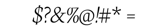 Neuton Extralight Italic Font OTHER CHARS