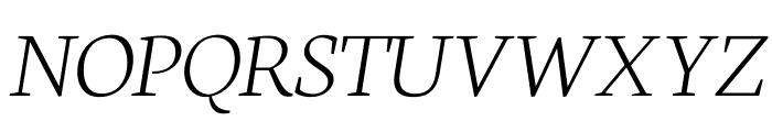 Neuton Extralight Italic Font UPPERCASE