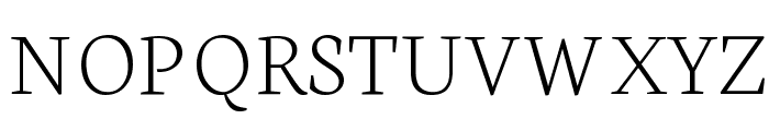 Neuton Extralight Font UPPERCASE