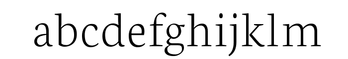 Neuton Extralight Font LOWERCASE