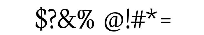 Neuton Light Font OTHER CHARS