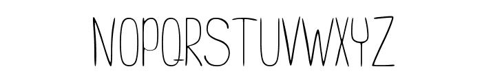 Never Regular Font UPPERCASE