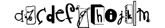 Never Writes Back Font LOWERCASE