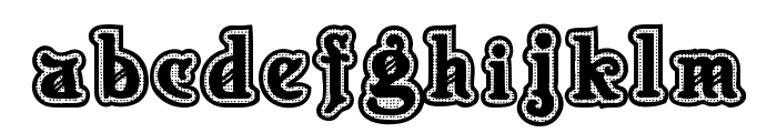 New Art Deco Font LOWERCASE