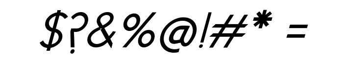 New Cicle Gordita Italic Font OTHER CHARS