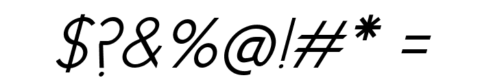 New Cicle Semi Italic Font OTHER CHARS