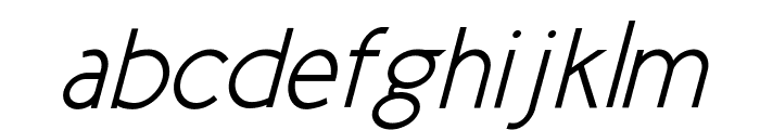 New Cicle Semi Italic Font LOWERCASE