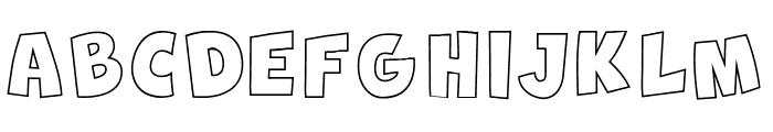 New Comic BD Outline Font UPPERCASE
