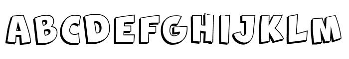 New Comic BD Shadow Font UPPERCASE
