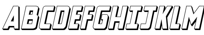 New Comic Title 3D Italic Font UPPERCASE