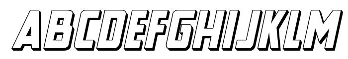 New Comic Title 3D Italic Font LOWERCASE