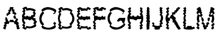 New Mozak Font UPPERCASE