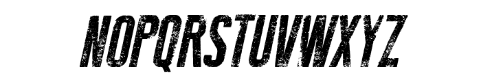 New Press Eroded Italic Italic Font UPPERCASE
