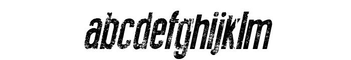 New Press Eroded Italic Italic Font LOWERCASE