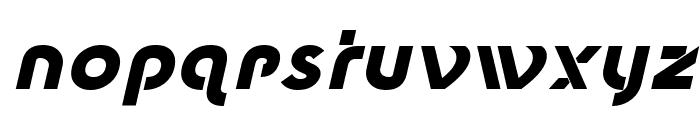New Shape Bold Oblique Font LOWERCASE