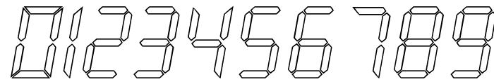 New X Digital tfb Hollow Font OTHER CHARS
