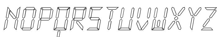 New X Digital tfb Hollow Font UPPERCASE