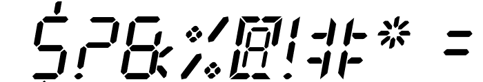 New X Digital tfb Font OTHER CHARS