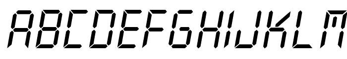 New X Digital tfb Font UPPERCASE