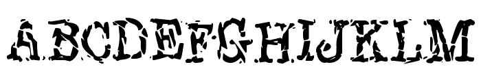 New York Punk Font UPPERCASE