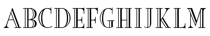 New Yorker Engraved Font UPPERCASE