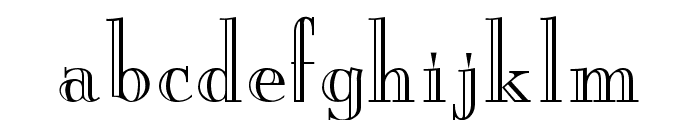 New Yorker Engraved Font LOWERCASE