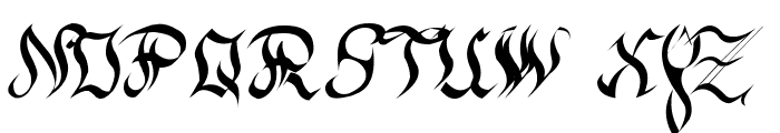 New gothic Font UPPERCASE