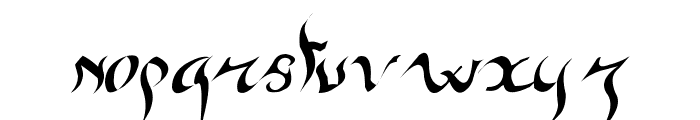 New gothic Font LOWERCASE