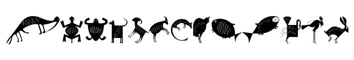 NewCaveDrawings Font LOWERCASE