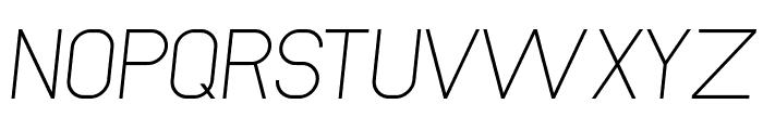 NewMedia Italic Font UPPERCASE