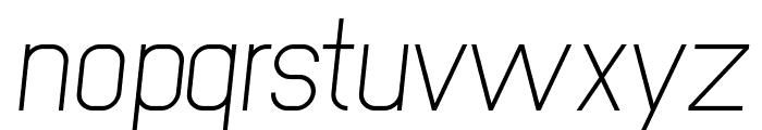 NewMedia Italic Font LOWERCASE