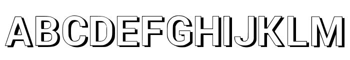 NewRetroStyle3d Font UPPERCASE