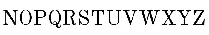 NewStandard Font UPPERCASE