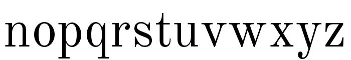 NewStandard Font LOWERCASE