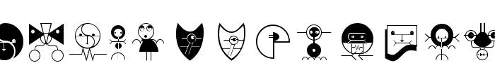 NewTechnoFaces Font UPPERCASE