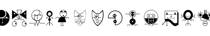NewTechnoFaces Font LOWERCASE