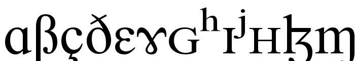Newbury SILDoulos Font UPPERCASE
