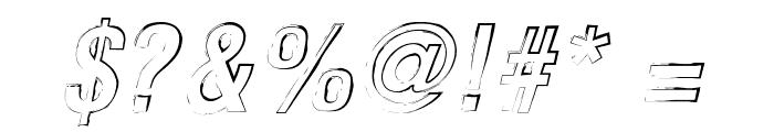 Newside FP Outline Alternate Italic Font OTHER CHARS