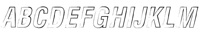 Newside FP Outline Alternate Italic Font UPPERCASE