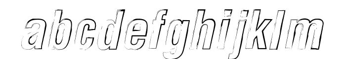 Newside FP Outline Alternate Italic Font LOWERCASE