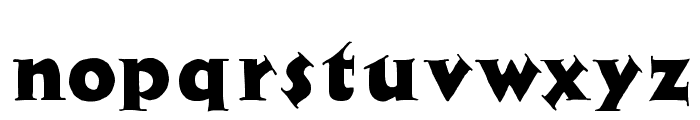Newspaper Font LOWERCASE