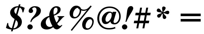 NewtonCTT BoldItalic Font OTHER CHARS